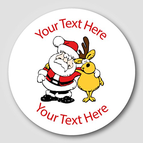 48 30mm personalised santa childrens reward stickers