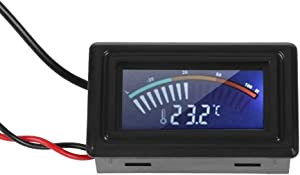 ASHATA PC Water Cooling System Pointer Display Thermometer Temperature Meter, LCD Display Digital Water Cooling Thermometer Pointer Temperature Indicator for All G1/4 Thread Water Cooling Equipment
