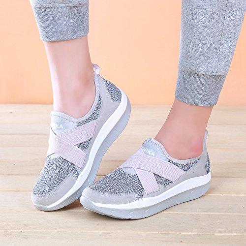 Gris Zapatillas LFEU de Running Mujer q6x87w