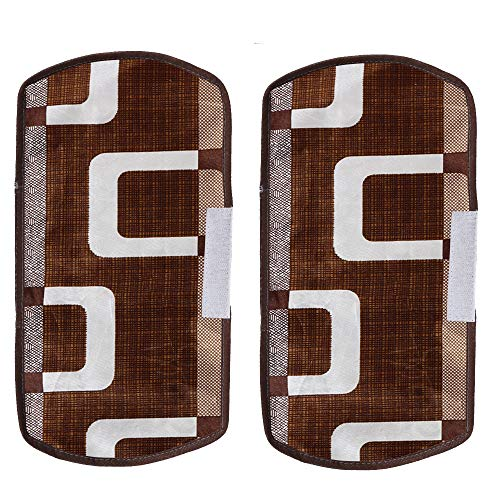 E-Retailer® Combo Set of 1Pc Fridge Top Cover with 6 Pockets, 2Pc Fridge Handle Cover, 1Pc Microwave-Oven Top Cover With 4 Pockets And 1Pc Top Load Washing Machine Cover (Brown, 5 Pc Set) 51NCuO66WnL India 2021