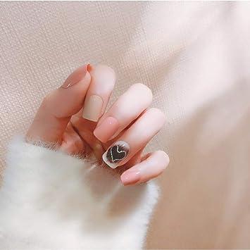 Uñas Postizas,Natural Francés Nails,24Pcs De Uñas Postizas Simples ...