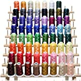 ThreadNanny Brand 63 Brother Colors Embroidery Thread Set 40wt Polyester & Thread Rack Brand