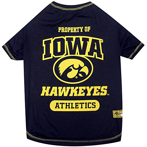 (NCAA Iowa Hawkeyes Dog T-Shirt, X-Small )