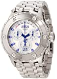 Invicta Men's 11870 Subaqua Chronograph Silver Dial Stainless Steel Watch, Watch Central