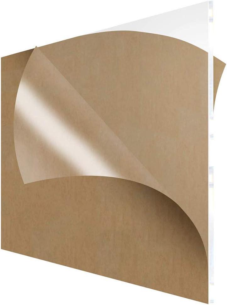 Fly-Fiber Plexiglass Transparent Clear Plastic Sheet Acrylic Board Organic Glass Polymethyl Methacrylate 100x100mm,Thickness 5mm.4PCS