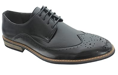 Aldo Rossini Guardian-3 Mens Lace Up Wing-Tip Oxford,Black, ...