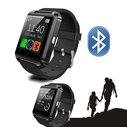 SMARTE V3.0 Touch Screen Smart Watch Bracelet for Google Android Iphone Mobile Phone Microsoft Windows Phone System Nokia Symbian Black