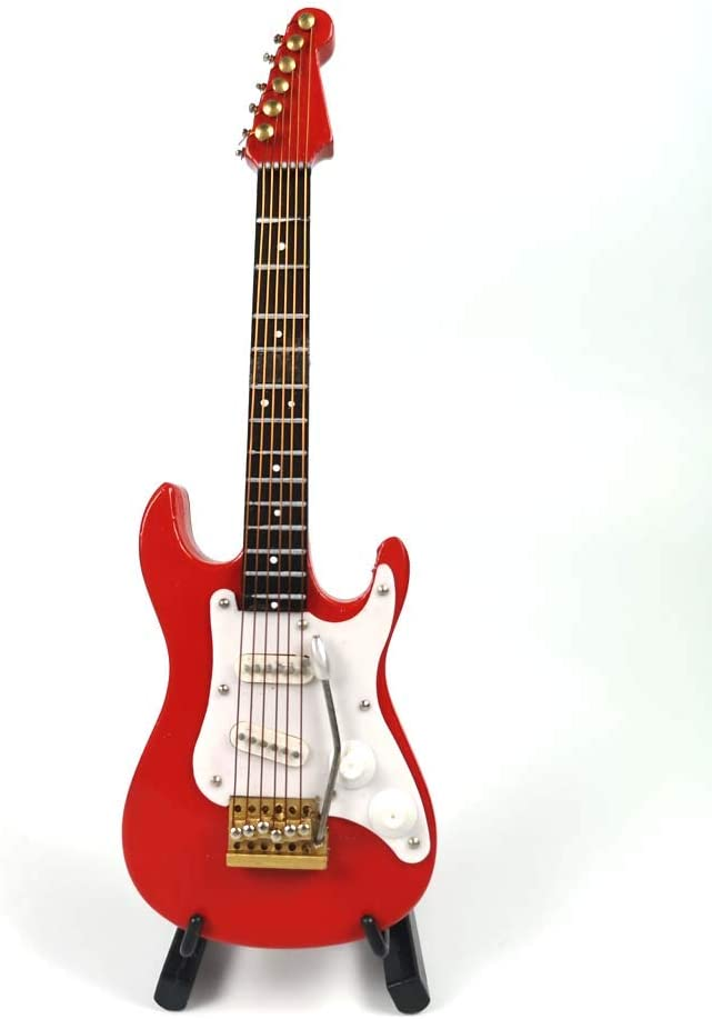 LS Miniature Red Electric Guitar Ornament, Featival Decoration and Holiday Tree Ornament (5.1inch/13CM)