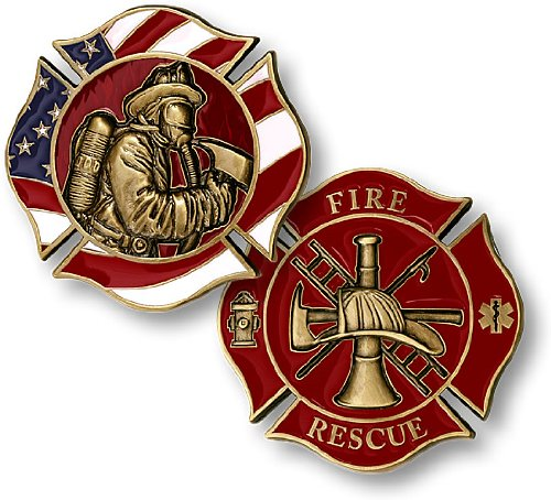 Fireman In Mask Challenge Coin