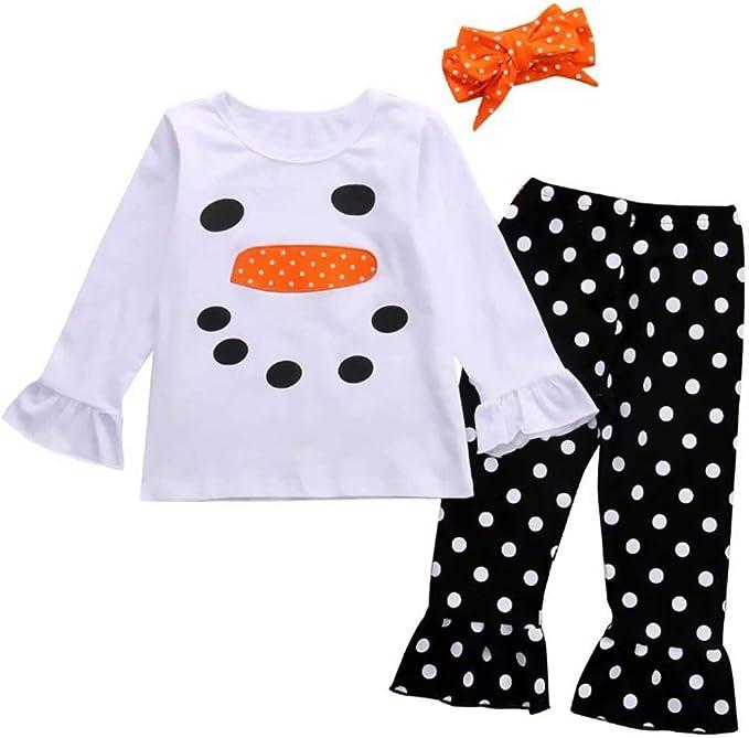 Amazon.com: Conjunto de ropa de regalo de Navidad para niñas ...