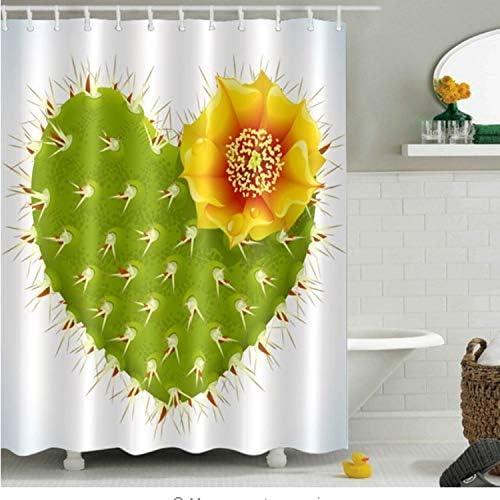 Chenghaos shop Girasol Cactus Mariposa y Flor Cortinas de Ducha ...