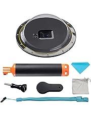 Suptig Onderwaterbehuizing in koepelvorm voor GoPro Hero 6/5, met waterdichte behuizing en drijvende stang, voor duiken, snorkelen, onderwaterfotografie