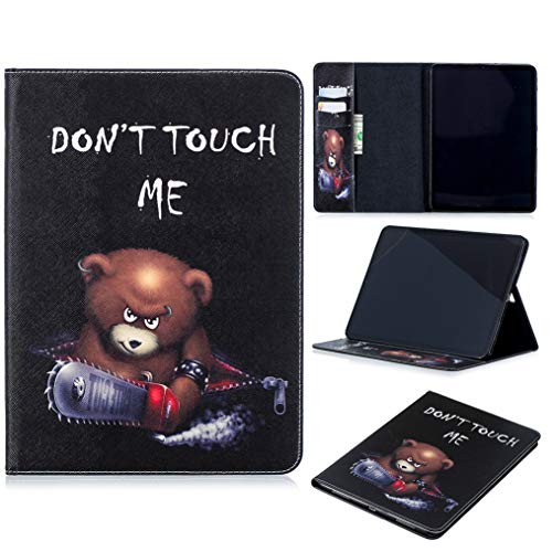 iPad Pro 12.9 Case 2018 3rd Generation, iYCK PU Leather Flip Folio Card Slot Protective Shell Wallet Case Cover with Stand Kickstand for Apple iPad Pro 12.9inch 2018 Release Tablet - Electric Saw Bear