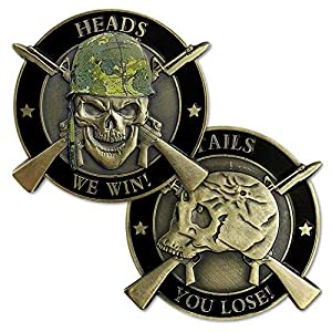 U.S. Army Challenge Coin Heads We Win Tails You Lose Lucky Gift by Amazinga