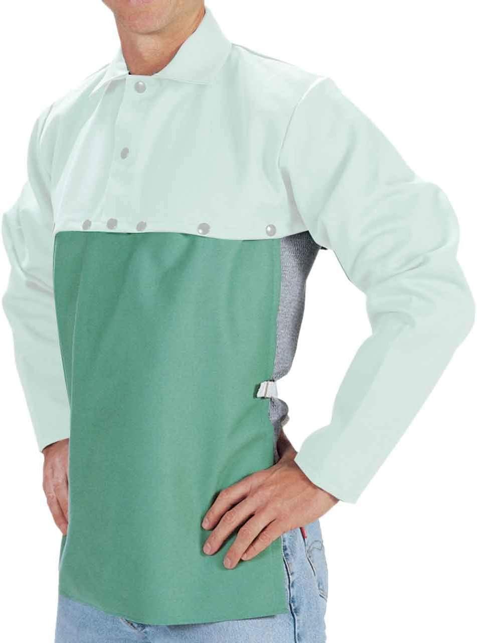 """Tillman 6120 20/"""" 9 oz Green Flame Resistant Cotton Bib"""