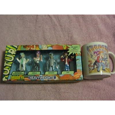 Futurama Die Cast Series 1 Boxed Set 4Pack Heavyweights Professor Farnsworth, Bender, Leela Frye: Toys & Games