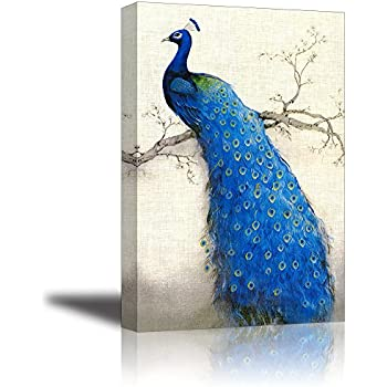 Peacock Wall Art Decor For Bedroom, PIY HD Beautiful Oil Painting Canvas  Prints Of Elegant