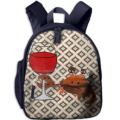Ojinwangji Funny Crab Drinking WineChildren's Full-Size Printed Backpack (with -