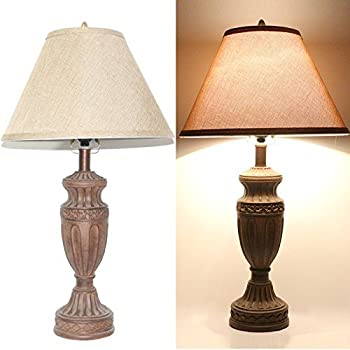 set tone bronze high traditional table lamps antique uk walmart