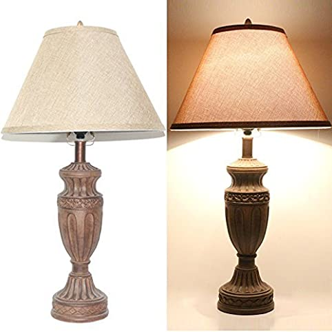 Charmant Set Of 2 Tone Bronze 26u0026quot; High Traditional Table Lamps