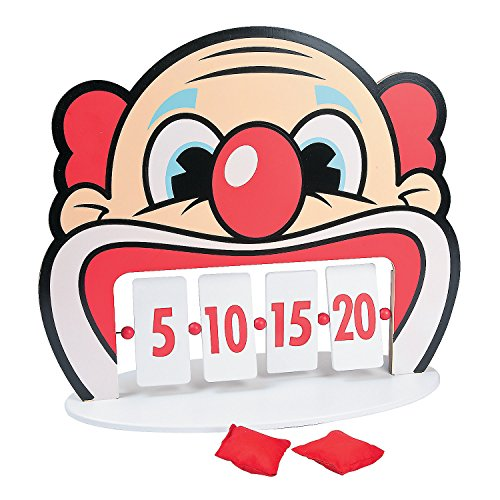 Clown Bean Bag Toss - Fun Express - Clown Tooth Bean Bag Game - Toys - Games - Bean Bag Toss - 5 Pieces