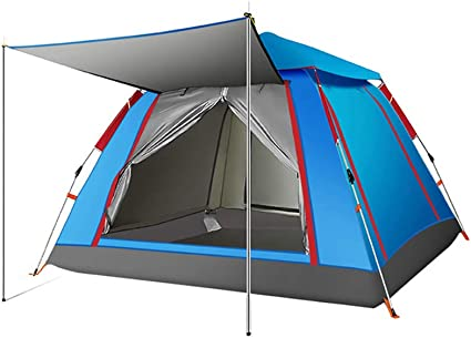 4 Personn Instant Tunnel Beach Tent Waterproof for Travel Outdoor Camping Hiking