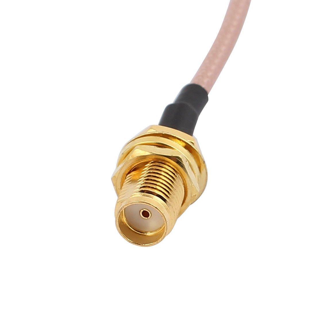 Amazon.com: eDealMax Oro SMA Masculino adaptador Macho del conector RP-SMA RG178 Cable coaxial Para Satellite Television 15CM: Electronics