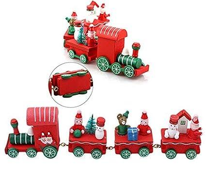 Tren De Madera De Navidadregalos De Navidadtren De Dibujos