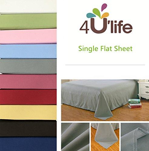 [Flat sheet-Ultra soft & Confortable Microfiber-Pink,Full] (Full Flat Sheet)