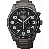 Seiko SSC231 All Black Dial and Stainless Steel Solar Men's Watch, Watch Central