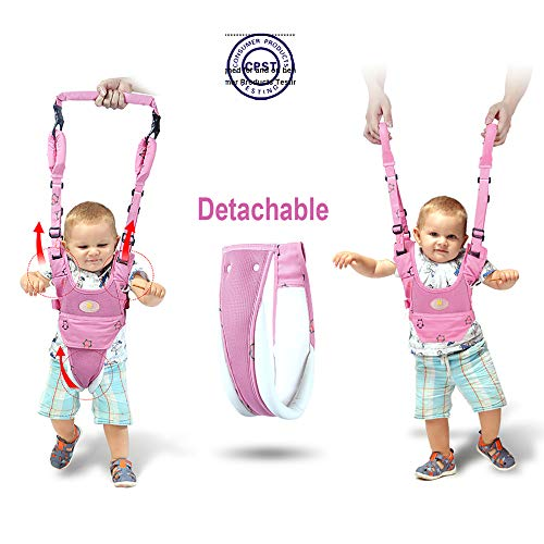 Baby Walker Toddler Walking Assistant Protective Belt,VIORKI Multifunction Breathable to Prevent Falling Learning Assistant,Help The Baby Safely Stand up and Walking (Pink)