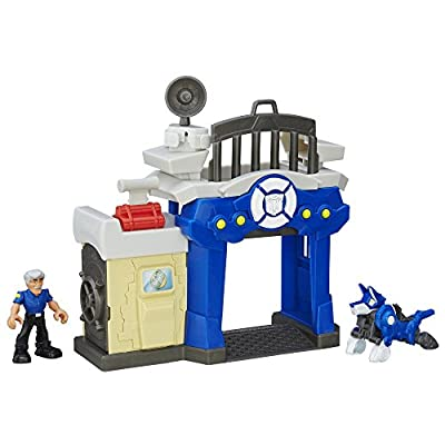 Playskool Heroes Transformers Rescue Bots Griffin Rock Police Station: Toys & Games