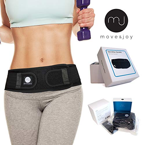 elt by Move & Joy. for Men and Women. Designed to Alleviate Sciatic, Pelvic, Lower Back & Leg Pain. Anti-Slip - Everyday Medical Trochanter Hip Belt That stabilize Your SI Joint ()