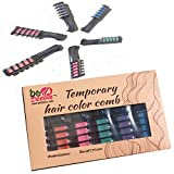 Temporary hair dye color for girls kids -hair shimmer chalk color comb 6 pcs- Party and Cosplay