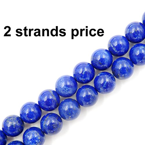 Precious Gemstone Beads for Jewelry Making, 100% Natural AAA Grade, Sold per Bag 2 Strands Inside (Lapis Lazuli, 6mm)
