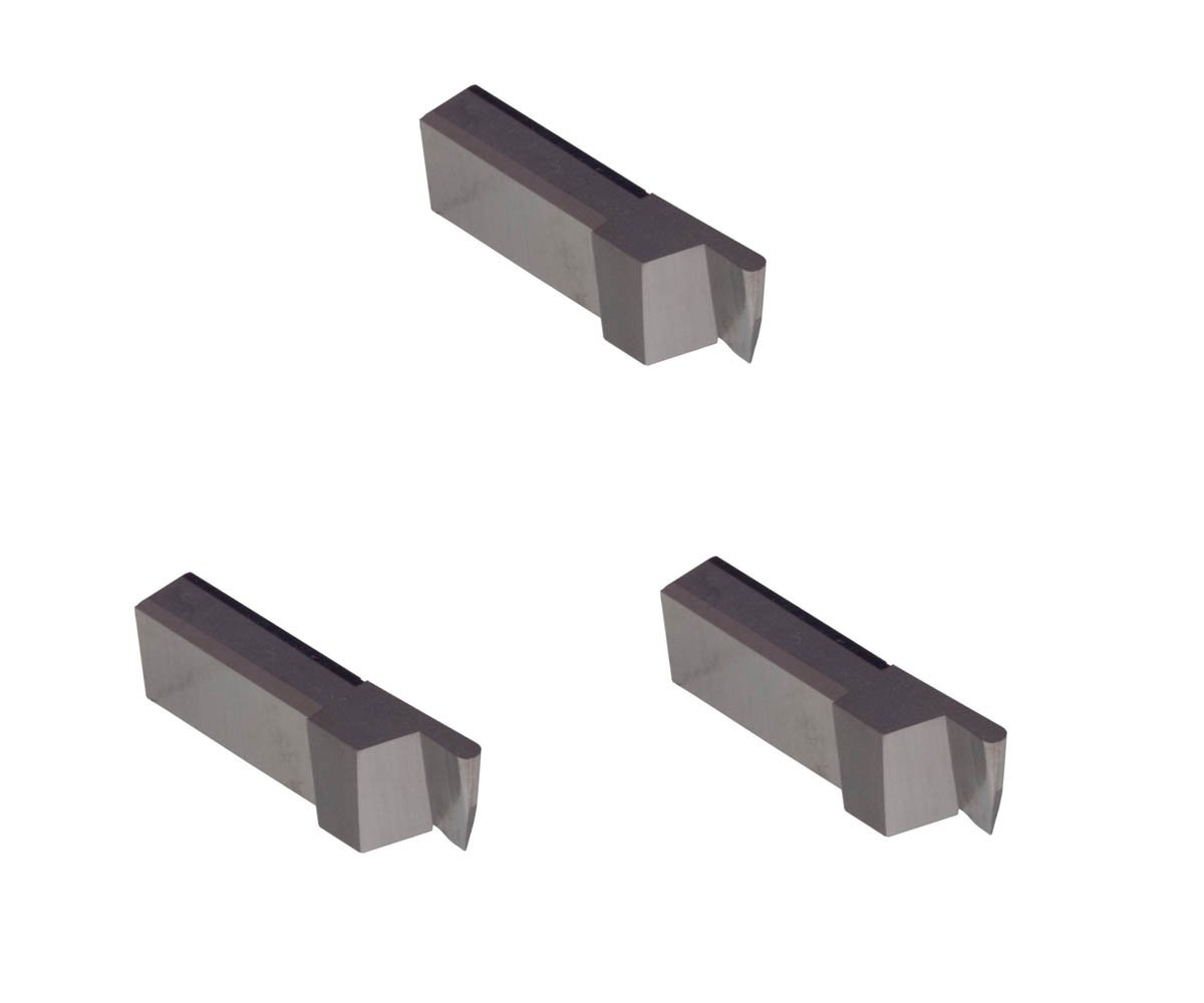 Corner Radius 0.006 Uncoated Carbide THINBIT 3 Pack LGT039D5RCR006 0.039 Width 0.100 Depth Aluminium and Plastic Without Interrupted Cuts Grooving Insert for Non-Ferrous Alloys