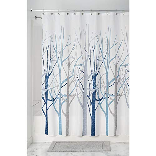 InterDesign Forest Fabric Shower Curtain for Master, Guest,