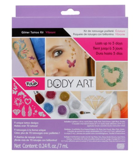 Tulip I Love to Create Body Art Glitter Tattoo Kit-Vibrant