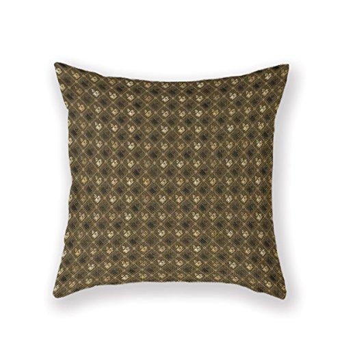 Customized Standard Pillowcase Brown Java Pattern Drink Throw Pillow 20 X 20 Square Cotton Linen Pillowcase Throw Pillow Cover -
