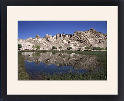 Framed Artwork of The old summer palace of the kings of Ladakh and gompa, Shey, Ladakh, India,