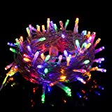 Twinkle Star 33 FT 100 LED String Lights Multicolor, Plug in String Lights 8 Modes Waterproof Indoor Outdoor Christmas Tree Wedding Party Bedroom Wall Decoration, Extendable to 1000 LED