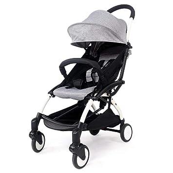 Eeayyygch Cochecito para bebé: se Puede sentar fácilmente Plegable Súper Ligero Portátil Mini Bolsillo Coche para niños Cochecito de bebé, Púrpura (Color ...