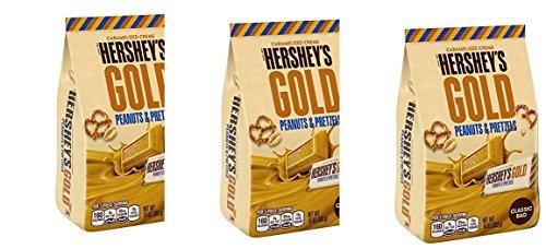 Hershey's Gold Peanuts & Pretzels Classic Bag 10 oz, (pack of 3)