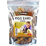 Vet Recommended NEW 100% Natural Pigs Ears For Dogs - Strips & Slivers - Pork Ear Dog Treats. Healthy Dog Chews With a Delicious & Rich Taste (1 lb Bag)