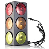 stop sign for kids - Traffic Light Lamp - Plug-In, Blinking Triple Sided, 12.25 Inch-For Kids Bedrooms, Decorations, Parties, Celebrations, Prop, & Gift - Kidsco