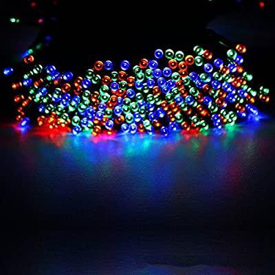 Junolux Solar String Lights 72ft(22m) 200 LED ,Christmas Lights for Outdoor ,Indoor Holiday Decorations ,Outside Solar String Lights for Garden, Patio, Party, Waterproof