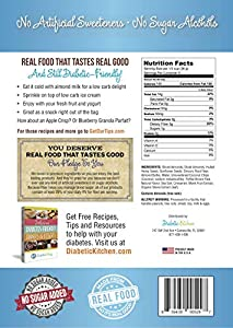 Diabetic Kitchen Almond Butter Granola Cereal 4g Net Carbs No Sugar Added Keto Friendly Low Carb Gluten-free High Fiber Non-gmo No Artificial Sweeteners Or Sugar Alcohols Ever 11 Oz from Diabetic Kitchen