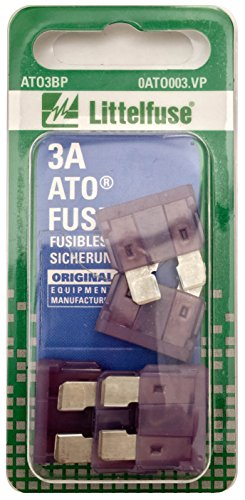Littelfuse 0ATO003.VP ATO 32 Volt 3 Amp Carded Fuse, (Pack of 5)