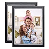 8x10 Picture Frames Photo Frame Set for Wall, Black, 8 by 10 Inch, 2 pcs