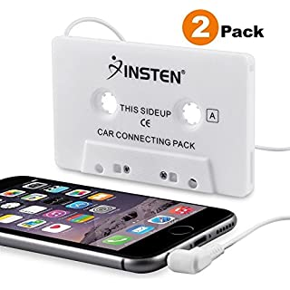 Discount INSTEN [2-Pack Car Cassette Tape Deck Adapter Compatible with 3.5mm Jack Audio MP3/CD Player Compatible with iPhone 6S / 6S Plus / 5S Samsung Galaxy S8 / S8+ S8 Plus/S9/ S9+ S9 Plus LG G6